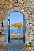 Gate in Palamidi fortress, Nafplio, Greece — Stock Photo