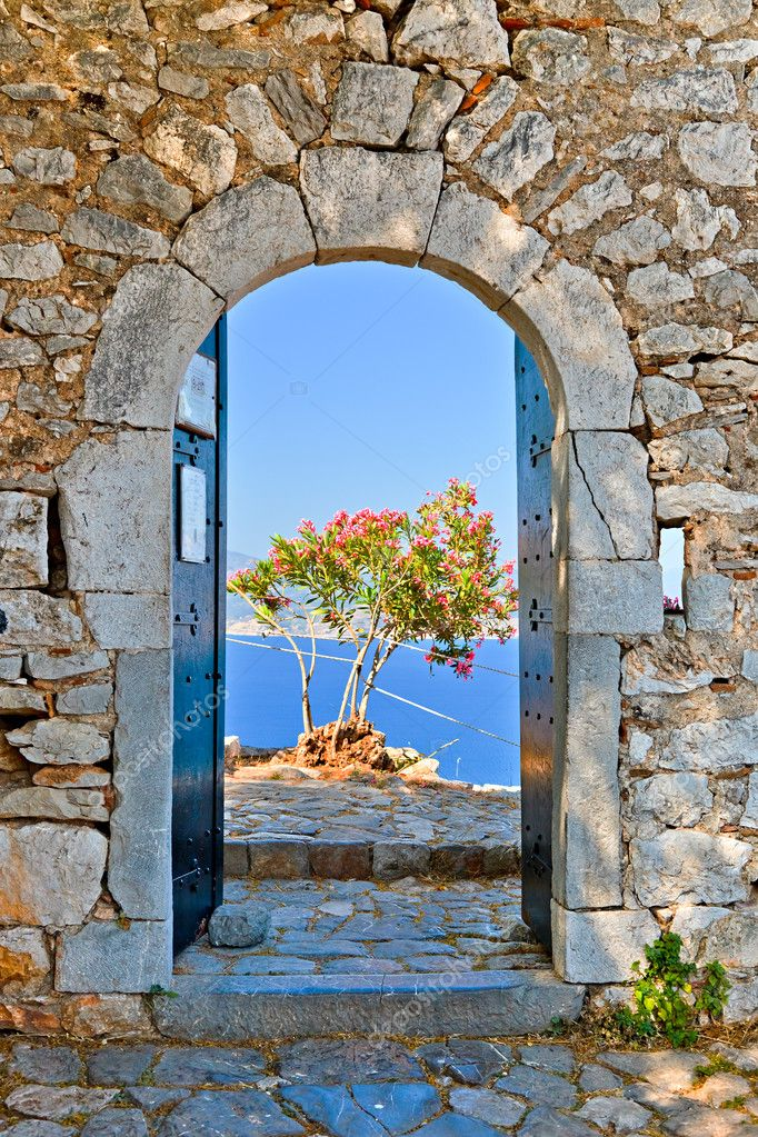 Gate in Palamidi fortress, Nafplio, Greece — Stock Photo #6463379