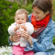 Mother with baby in the park — Stock Photo #6673855
