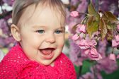Cute smiling baby girl — Stock Photo