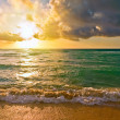 Sunrise, Atlantic ocean, FL, USA - Stock Photo