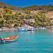 Touristic area on Poros, Greece — Foto de Stock