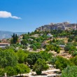 View on Acropolis from ancient agora, Athens, Greece - Stock Photo