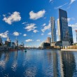Skyscrapers on Yarra River, Melbourne — Stock Photo #6717005