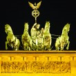 Quadriga on Brandenburg gate in Berlin — Stock fotografie