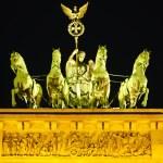 Quadriga on Brandenburg gate in Berlin — Stock Photo