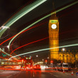 Traffic in night London, UK — Stock Photo