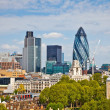 View on city of London - Stock Photo