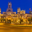Plaza de Cibeles at night, Madrid, Spain — Stock Photo