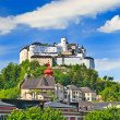 Hohensalzburg Fortress, Salzburg, Austria - Stock Photo