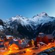 Ski resort at night — Stock Photo