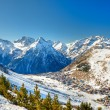 Stock Photo: Ski resort in French Alps