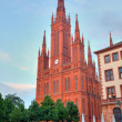 Markt Kirche in Wiesbaden, Germany - Stock Photo