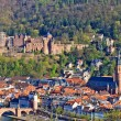 Stock Photo: View on Heidelberg at spring, Germany