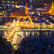 Heidelberg at night, Germany — Stock Photo