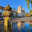 Santa barbara mission, ca, usa — Stock Photo