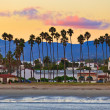 View on Santa Barbara from the pier — Stock Photo