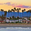 View on Santa Barbara from the pier - Stock Photo