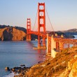 Stock Photo: Golden Gate Bridge at sunset