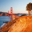 Golden Gate Bridge at sunset, San Francisco — Stock Photo