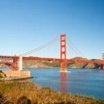 Ponte Golden gate em san francisco, de manhã — Foto Stock