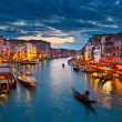 Grand Canal at night, Venice — Stock Photo #6717422