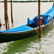 Traditional venetian gondola — Photo