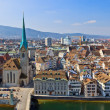 Stock Photo: View on Zurich, Switzerland