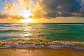 Sunrise, Atlantic ocean, FL, USA — Stock Photo