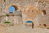 Muren van palamidi fort, nafplio, griekenland — Stockfoto