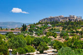 View on Acropolis from ancient agora, Athens, Greece — Stock Photo