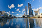 Skyscrapers on Yarra River, Melbourne — Stock Photo