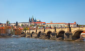 View on Charles bridge, Prague — Stock Photo