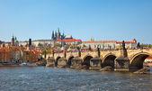 View on Charles bridge, Prague — Stock Photo
