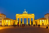 Brandenburg gate at night, Berlin — Stock Photo