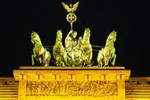 Kwadrygi na bramy brandenburskiej w berlinie — Zdjęcie stockowe