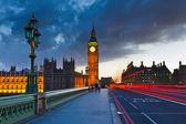 Big Ben at night, London — Stock Photo