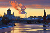 Sunset over Moscow — Stock Photo