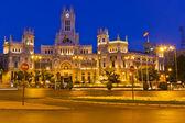 Plaza de Cibeles at night, Madrid, Spain — Stock Photo
