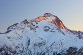 Franse alpen bij zonsondergang — Stockfoto