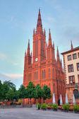 Markt Kirche in Wiesbaden, Germany — Stock Photo
