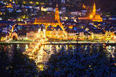 Heidelberg at night, Germany — Stockfoto