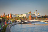 Moscow kremlin at sunset — Stockfoto