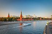 Kremlin de Moscou au coucher du soleil — Photo