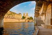Seine řece, paříž, francie — Stock fotografie