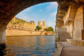Seine floden, paris, frankrike — Stockfoto