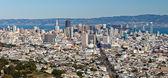 Uitzicht op san francisco uit twin peaks — Stockfoto