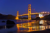 Golden Gate Bridge at night, San Francisco — Stock Photo