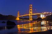Golden Gate Bridge at night, San Francisco — Stock Photo