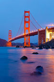 Golden Gate Bridge after sunset, San Francisco — Stock Photo